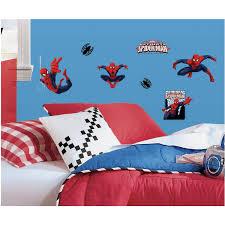 roommates spider man ultimate spider man peel and stick wall roommates spider man ultimate spider man peel and stick wall decals walmart com