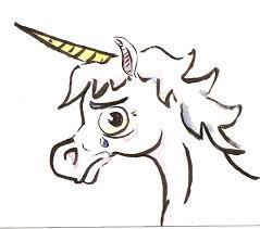sad unicorn mitchdraws
