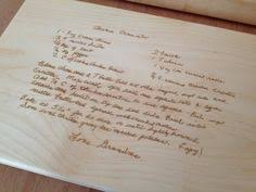 cutting board with recipe engraved recipe scanned from s or s handwriting photo laser