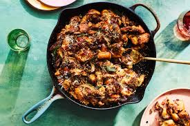 skillet with italian sausage and mushrooms recipe