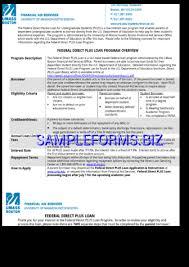 parent plus loan application form templates u0026 samples