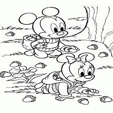 uniek kleurplaten minnie mouse baby