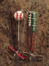 Utz Halloween Pretzel Treats Nutrition by Baseball And Football Chocolate Covered Pretzels Party Ideas