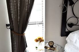Rope Curtain Tie Back Tattered Style Restoration Hardware Rope Tiebacks Diy