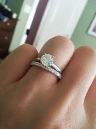 Wedding Ring And Band by Show Me Your Solitaire E Ring And Band Weddingbee