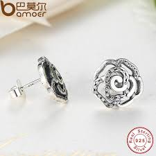 original earrings aliexpress buy bamoer original 925 sterling silver
