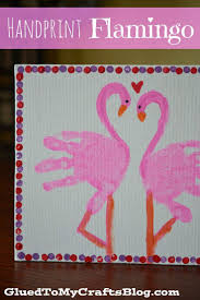 handprint flamingo kid canvas craft kids canvas canvas crafts