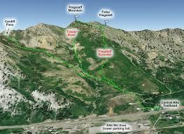 Ski Utah Map by Wbskiing Guide