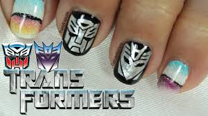 transformers nail art youtube