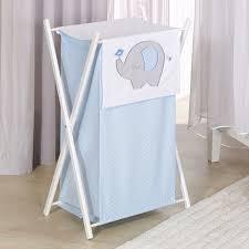 panier a linge chambre bebe panier à linge chambre bébé bleu à pois blancs et broderie éléphant