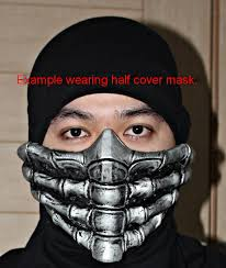 Halloween Costume Kids Cover Mortal Kombat Mask Mask Airsoft Mask