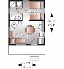 cottage style house plan 1 beds 1 baths 320 sq ft plan 23 2287