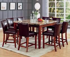 Cherry Wood Dining Room Tables by Telegraph Warm Cherry Wood And Marble Pub Table Set Steal A Sofa