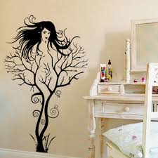 popular wall paper for woman buy cheap wall paper for woman lots sexy girl tree wall sticker diy hot woman home decorations wall art decals vinyl pvc wall