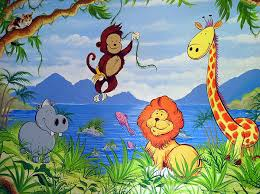 Cartoon Wall Painting In Bedroom Childrens Murals London Wall Paintings For Childrens Bedrooms And