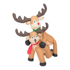 Blow Up Holiday Decorations Funny Humping Reindeer Christmas Lawn Inflatable Decoration Ugly