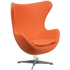 amazon com flash furniture orange wool fabric egg chair with tilt