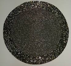 Beaded Table Linens - beaded table mat amazon co uk