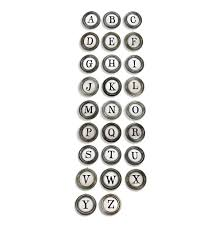Metal Wall Letters Home Decor Vintage Typewriter Keys A To Z Metal Letter Wall Decor Kathy Kuo