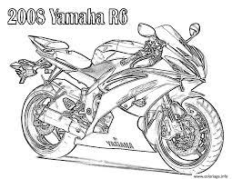 coloriage moto dessin à imprimer gratuit