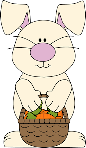 easter bunny baskets easter bunny with a basket of carrots easter clipart