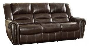 ashley leather sofa recliner furniture contemporary design and outstanding comfort with double
