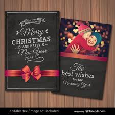 editable christmas card with photography frame vector free download