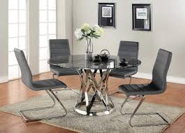 kitchen table modern modern round glass kitchen table with grey wool area rug oak and