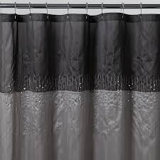 essential home disco silver fabric shower curtain