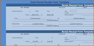Rental Receipt Template Excel 6 Rental Receipt Template Authorizationletters Org