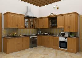 kitchen kitchen tile and red stained wooden kitchen island with