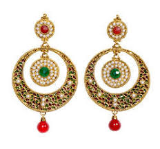 ear ring photo designer earring pearl earring exporter from mumbai