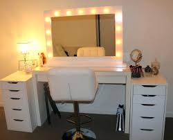 Vanity Mirror With Chair Ikea Mlam Dressing Table With Ghost Chair And Hollywood Mirror