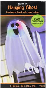 halloween hanging ghost decorations led light rgb scary spooky