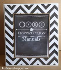 lego instruction manual organizer u0026 free cover printable love it