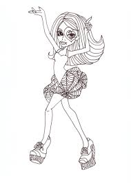 free printable monster high coloring pages december 2012