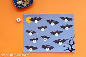 halloween roll u0026 cover math games free printable gift of curiosity
