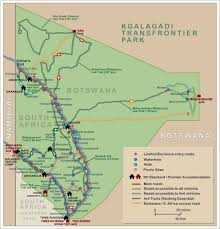 Ana Route Map Kgalagadi Transfrontier Park Map Links To Travel Information Camps