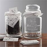 Wedding Wish Jar 10 One Of A Kind Bride And Groom Gift Ideas For The Couple Less
