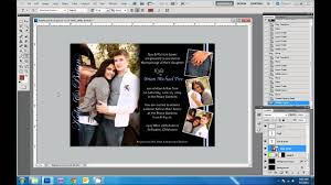 Invitation Card Application How To Design Wedding Invitations In Photoshop Youtube