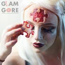 Diy Halloween Makeup Effects by Saw Inspired Puzzle Piece Special Effects Makeup Skin Made With