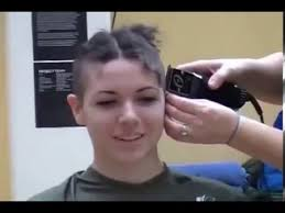 very beautiful headshave girls beautiful girl with long curly hair shaved to bald youtube