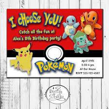 free printable pokemon birthday invitations pokemon pinterest