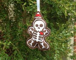 skeleton ornament etsy