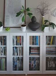 Glass Bookcase With Doors Billy Bookcases With Grytnäs Glass Doors Ikea Hackers