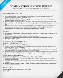 janitor resume resume example