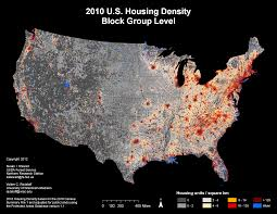 United States Map By Population by United States Housing Density Maps Silvis Lab