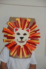 fun kids craft paper bag lion mask kidsimple crafts adults