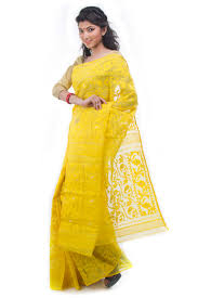 bangladeshi jamdani saree exclusive yellow dhakai jamdani saree from bangladesh