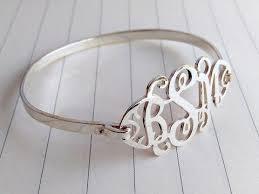 silver monogram bracelet personalized monogrammed bracelet within any initials on nanvo